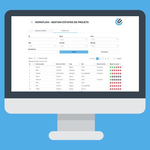 Développement sur-mesure application workflow
