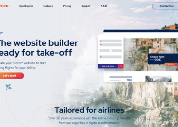 Flyneo : All in one website solution for airlines